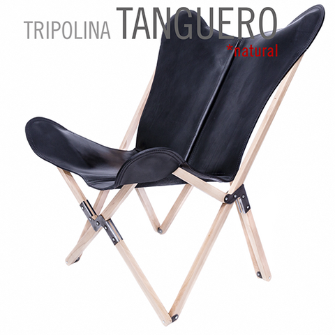 TRIPOLINA TANGUERO LEATHER CHAIR
