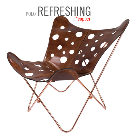 POLO LONDON REFRESHING BUTTERFLY LEATHER CHAIR