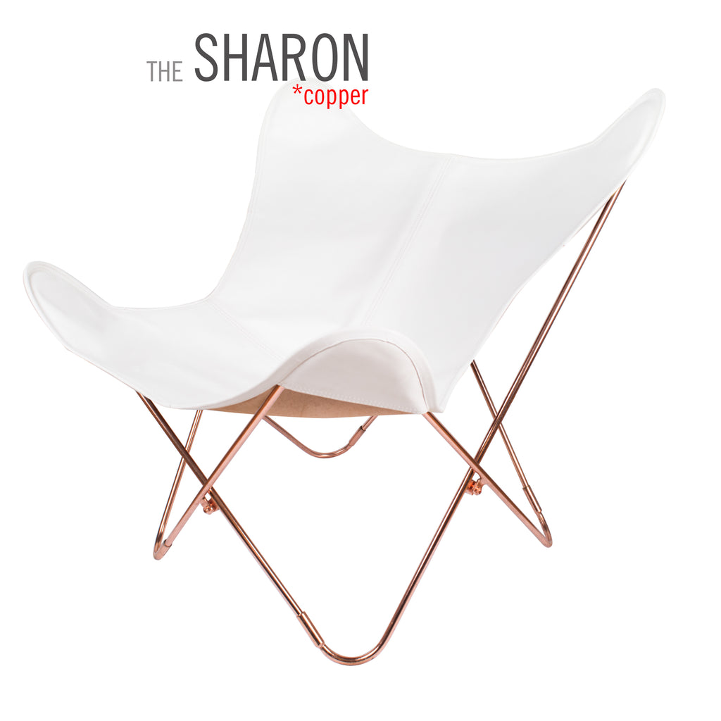 VAQUETA SHARON LEATHER BUTTERFLY CHAIR