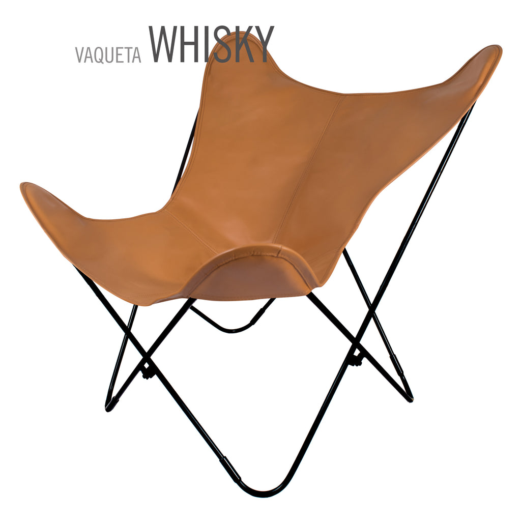 VAQUETA WHISKY LEATHER BUTTERFLY CHAIR
