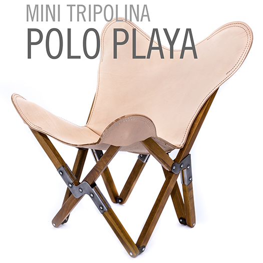 MINI TRIPOLINA LEATHER CHAIR POLO PLAYA