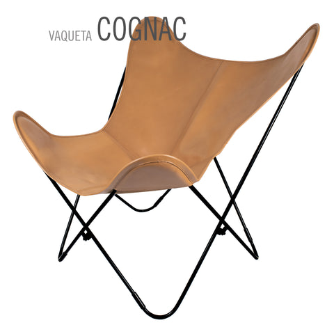 VAQUETA COGNAC BUTTERFLY LEATHER CHAIR