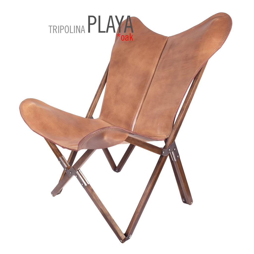 ... TRIPOLINA PLAYA NATURAL LEATHER CHAIR