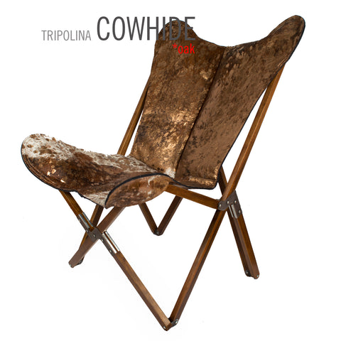TRIPOLINA COWHIDE TRANSFER LEATHER CHAIR