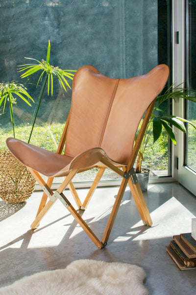 TRIPOLINA PLAYA NATURAL LEATHER CHAIR