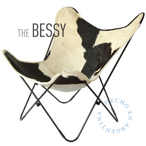 THE BESSY BUTTERFLY LEATHER CHAIR
