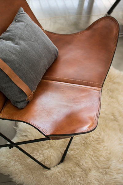 CUSTOM LEATHER COVERS FOR BUTTERFLY CHAIRS