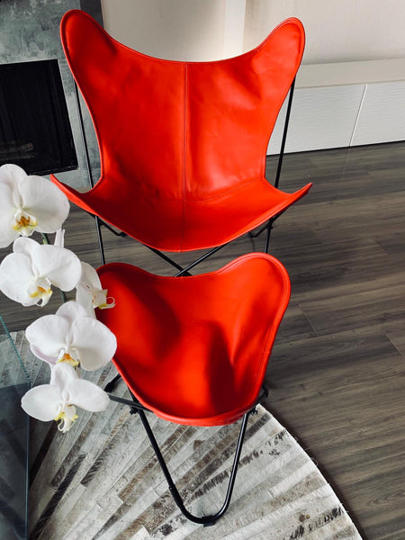 VAQUETA WARHOL LEATHER BUTTERFLY CHAIR