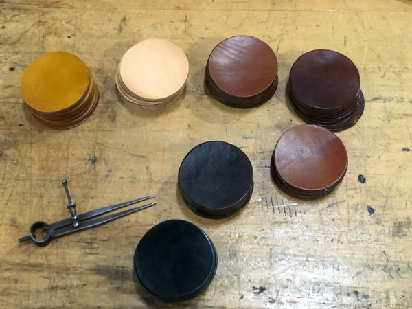 POLO LEATHER SAMPLES THAT CAN BE USED AS COASTERS