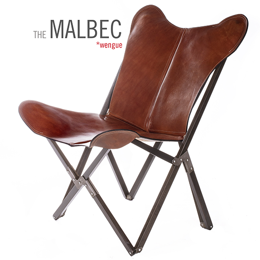 TRIPOLINA MALBEC LEATHER CHAIR