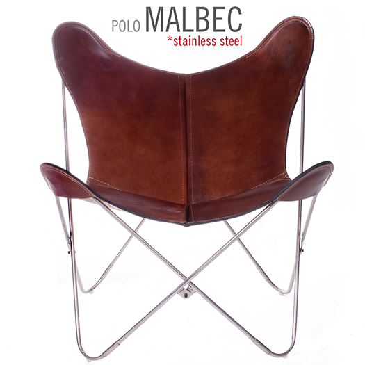 POLO MALBEC LEATHER BUTTERFLY CHAIR