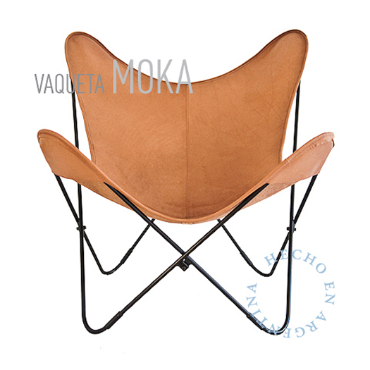 VAQUETA MOKA LEATHER BUTTERFLY CHAIR