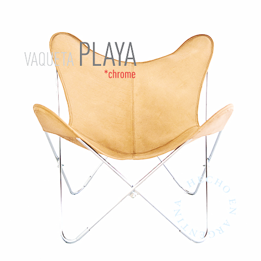 VAQUETA PLAYA BUTTERFLY LEATHER CHAIR