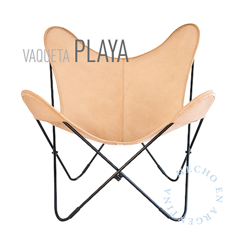 VAQUETA PLAYA LEATHER BUTTERFLY CHAIR