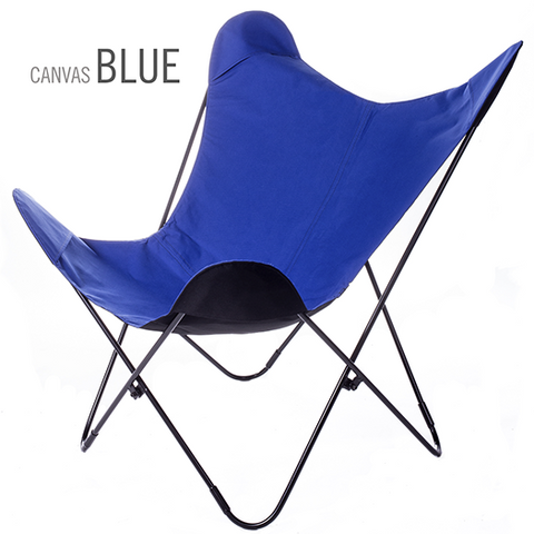 SUNBRELLA FABRIC BLUE BUTTERFLY CHAIR