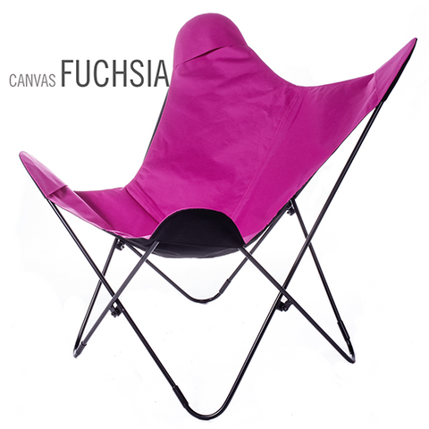 SUNBRELLA FABRIC FUCHSIA BUTTERFLY CHAIR
