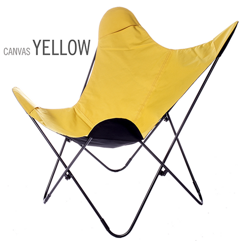 REVERSIBLE WATERPROOF CANVAS YELLOW BUTTERFLY CHAIR