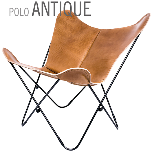 POLO ANTIQUE BUTTERFLY LEATHER CHAIR