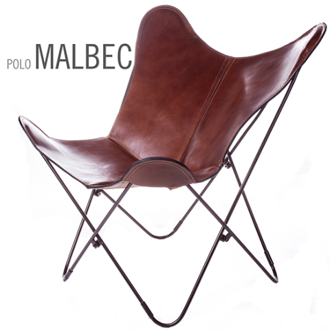 POLO MALBEC BUTTERFLY LEATHER CHAIR
