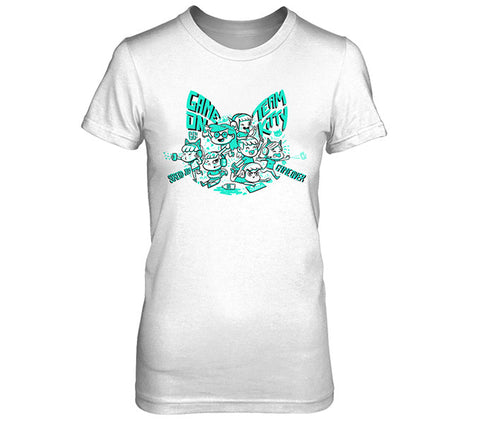 Cat Game On Women's Shirt Team Kitty
