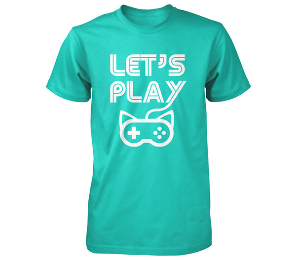 Blue Lets Play Mens Shirt Team Kitty