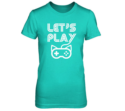 Blue Lets Play Women's Shirt