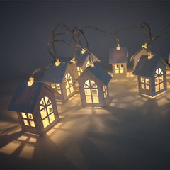 10Pcs LED String Tree Houses Decor
