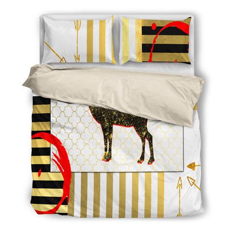 Deer Decor Bedding - Beige