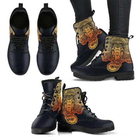 Lotus Elephant Women's Leather Boots