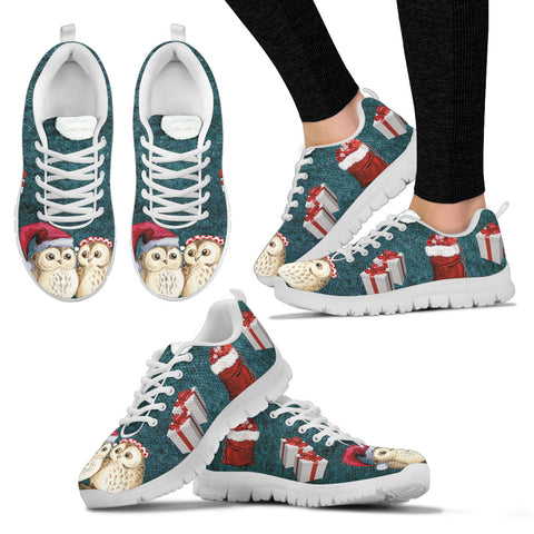 White Wise Owl Women's Sneakers