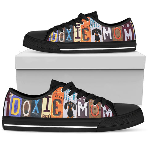 Doxie Mom Low Top Shoes