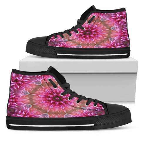 Pink Flower Kaleidoscope Sneakers