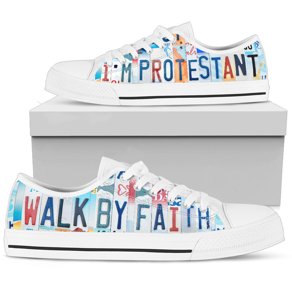I'm Protestant Low Top Shoes