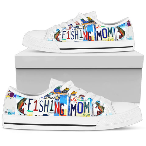 Fishing Mom Low Top Shoes