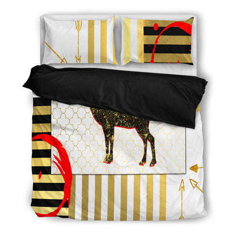 Deer Decor Bedding - Black