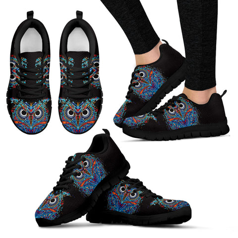Owl Black Women's Sneakers