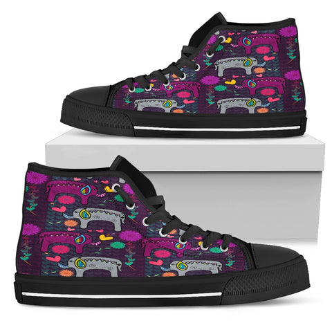 Elephant Hearts and Flowers Sneakers