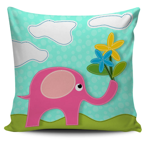 Pink Elephant Pillow Covers