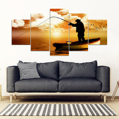 Fishing Is Life Canvas Art