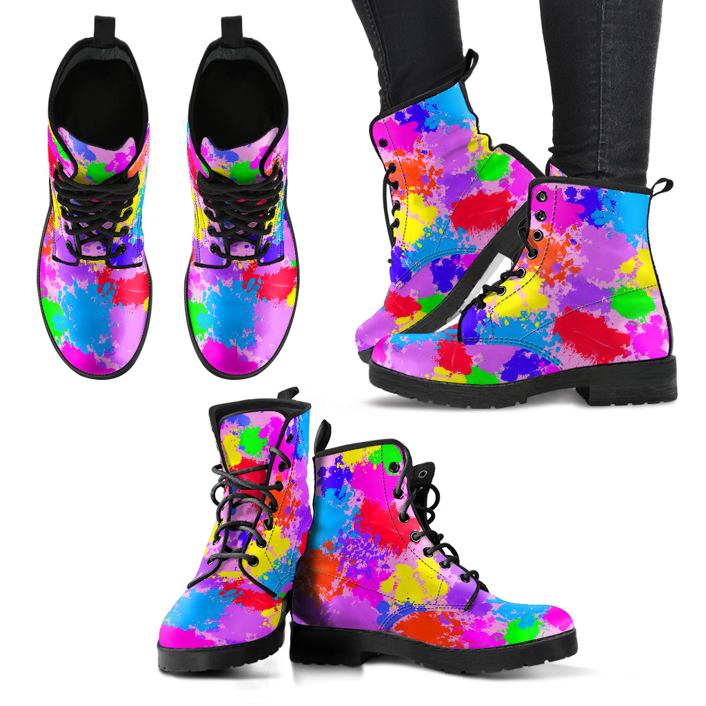 Color Splatter Ladies Boots