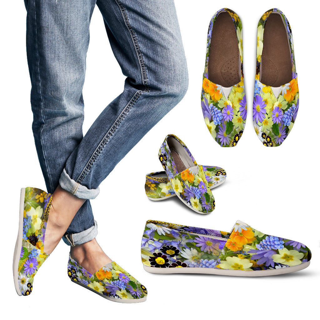 Beautiful Flowers Casual Shoes