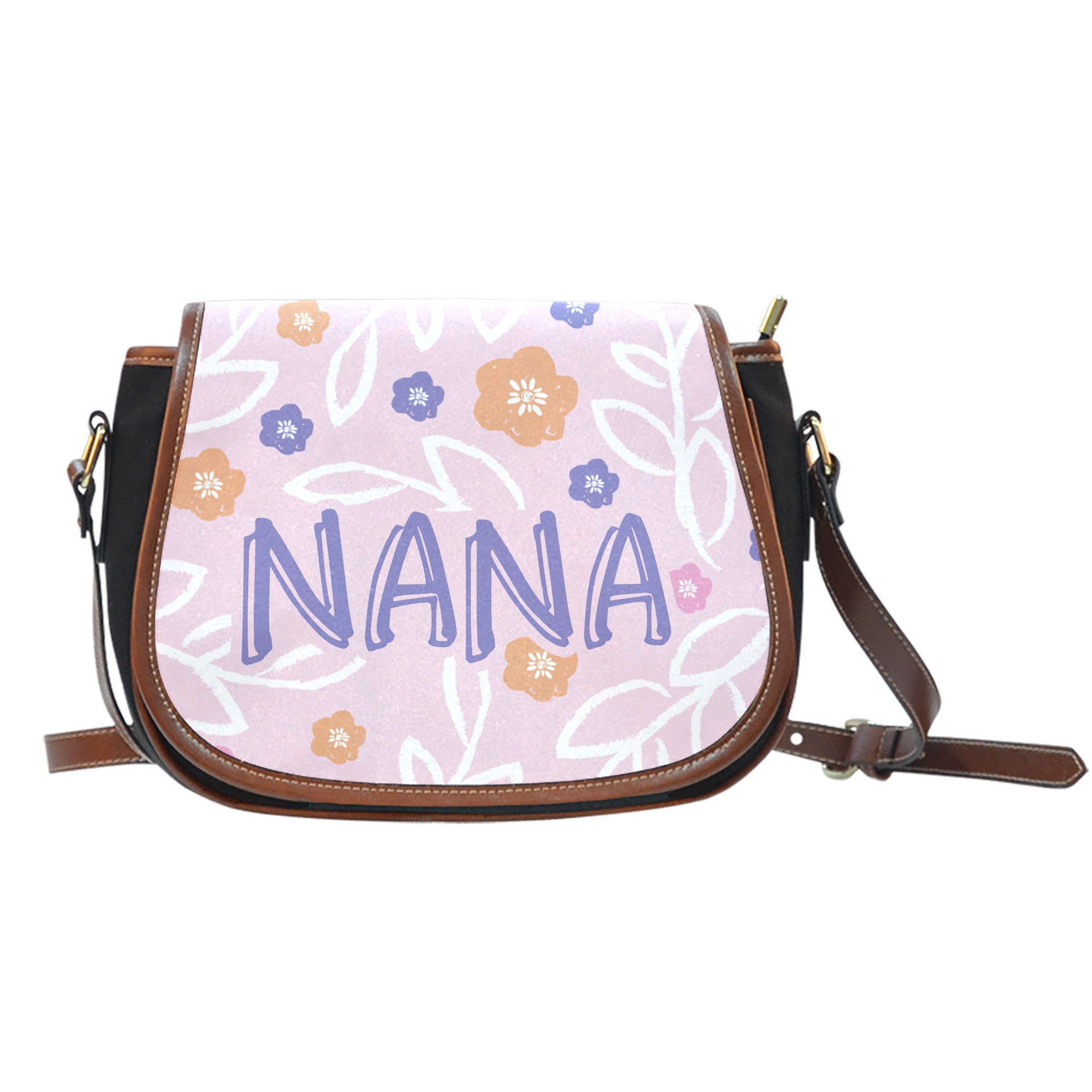 Nana Pink Floral Saddle Bag