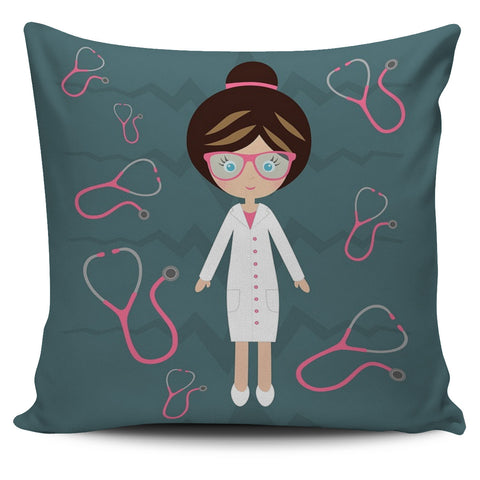 Nurse Stethoscope Pillow Cover