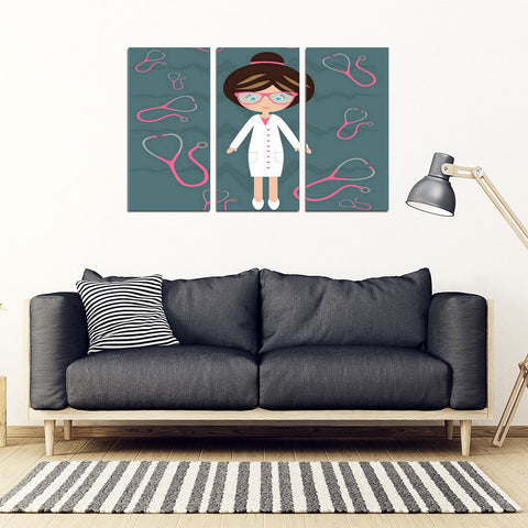 Nurse Stethoscope Art Canvas
