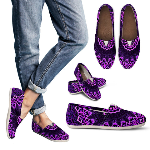 Purple Mandala Casual Shoes