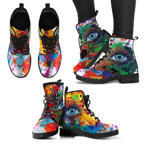 Rainbow Eye Women's Leather Boots
