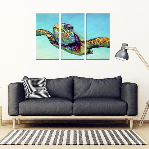 Sea Turtle Framed Canvas