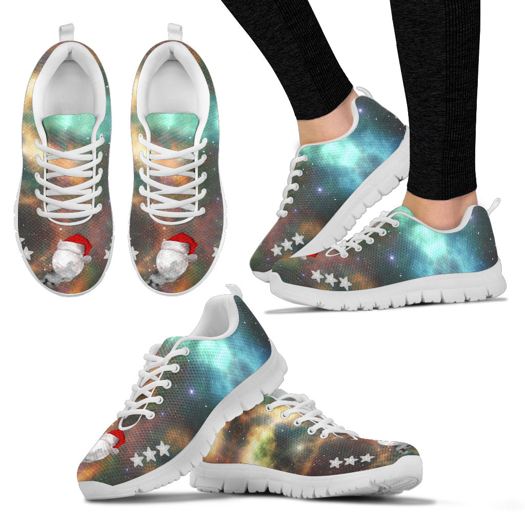 White Santa Moon Women's Sneakers