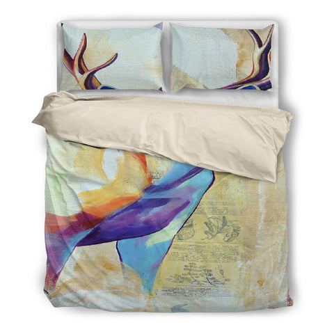 Deer Painting Printed Bedding