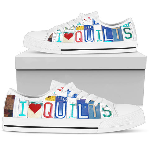 I Love Quilts Low Top Shoe
